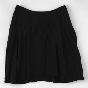 A.L.C. skater swing skirt black size 0 viscose EUC